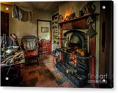 Victorian Fire Place Acrylic Print by Adrian Evans