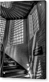 Victorian Jail Staircase V2 Acrylic Print by Adrian Evans