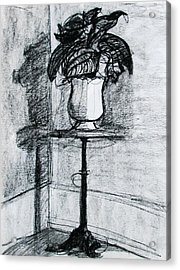 Victorian Plant Stand Acrylic Print by Anita Dale Livaditis
