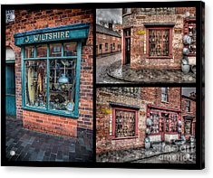 Victorian Shops Acrylic Print by Adrian Evans