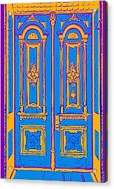 Victoriandoorpopart Acrylic Print by Greg Joens