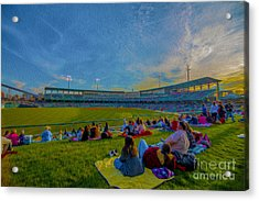 Victory Field Oil Acrylic Print by David Haskett