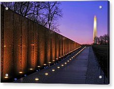 Vietnam Veterans Memorial At Sunset Acrylic Print by Pixabay