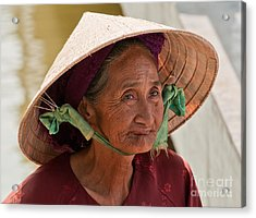 Vietnamese Lady Acrylic Print by Rick Piper Photography
