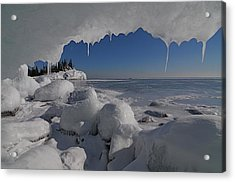 View From An Ice Cave Acrylic Print by Sandra Updyke
