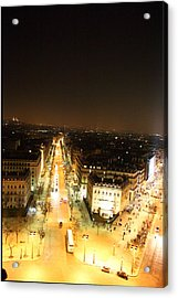 View From Arc De Triomphe - Paris France - 01133 Acrylic Print by DC Photographer