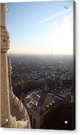 View From Basilica Of The Sacred Heart Of Paris - Sacre Coeur - Paris France - 011310 Acrylic Print by DC Photographer