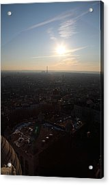 View From Basilica Of The Sacred Heart Of Paris - Sacre Coeur - Paris France - 011311 Acrylic Print by DC Photographer
