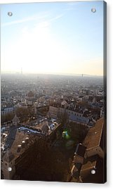 View From Basilica Of The Sacred Heart Of Paris - Sacre Coeur - Paris France - 011314 Acrylic Print by DC Photographer