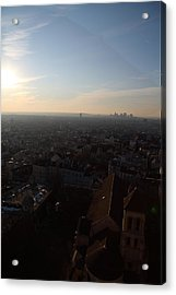 View From Basilica Of The Sacred Heart Of Paris - Sacre Coeur - Paris France - 011315 Acrylic Print by DC Photographer