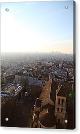 View From Basilica Of The Sacred Heart Of Paris - Sacre Coeur - Paris France - 011316 Acrylic Print by DC Photographer