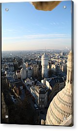 View From Basilica Of The Sacred Heart Of Paris - Sacre Coeur - Paris France - 011322 Acrylic Print by DC Photographer