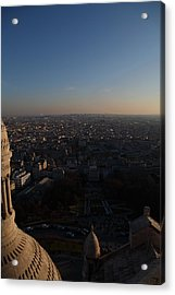 View From Basilica Of The Sacred Heart Of Paris - Sacre Coeur - Paris France - 011335 Acrylic Print by DC Photographer