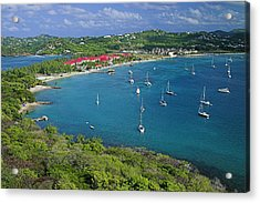 View From Fort Rodney-st Lucia Acrylic Print by Chester Williams