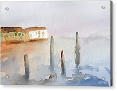 View From Murano Watercolor Painting Of Venice Acrylic Print by Beverly Brown Prints