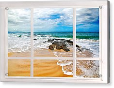 View From My Beach House Window Acrylic Print by Kaye Menner