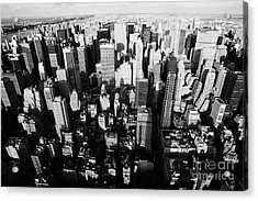 View North And Down Towards Central Park From Empire State Building Acrylic Print by Joe Fox