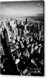 View North East Of Manhattan Queens East River From Observation Deck Empire State Building New York Acrylic Print by Joe Fox
