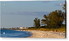 View Of A Beach, Naples, Collier Acrylic Print by Panoramic Images