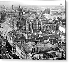 Acrylic Print featuring the photograph View Of Berlin Germany 1903 Vintage Photograph by A Gurmankin