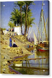 View Of Cairo Acrylic Print by Peder Mork Monsted