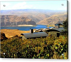 View Of Columbia River Acrylic Print by Kay Gilley