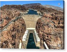 View Of Hoover Dam Acrylic Print by Eddie Yerkish