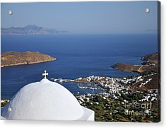 View Of Livadi Port Acrylic Print by George Atsametakis