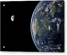 View Of North America With Rise In Sea Acrylic Print by Walter Myers