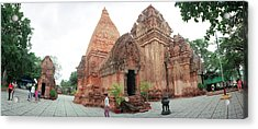 View Of Po Nagar Cham Temple Tower, Nha Acrylic Print by Panoramic Images
