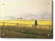 View Of Schmiedebergerkamm Acrylic Print by Caspar David Friedrich