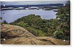 View Of Squam Lake From Rattlesnake Mountain Acrylic Print by Karen Stephenson