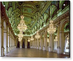 View Of The Grande Salle Des Fetes Acrylic Print by French School
