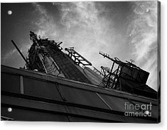View Of The Top Of The Empire State Building Radio Mast New York City Acrylic Print by Joe Fox