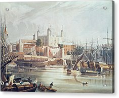 View Of The Tower Of London Acrylic Print by John Gendall