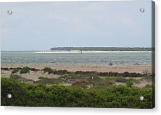 View Off Fort Macon Acrylic Print by Cathy Lindsey
