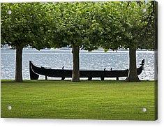 Viking Boat Acrylic Print by Cheri Randolph