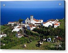 Village In Azores Islands Acrylic Print by Gaspar Avila