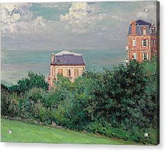 Villas At Villers-sur-mer Acrylic Print by Gustave Caillebotte