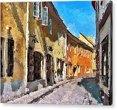 Vilnius Old Town 35 Acrylic Print by Yury Malkov