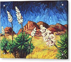 Vincent In Arizona Acrylic Print by James W Johnson