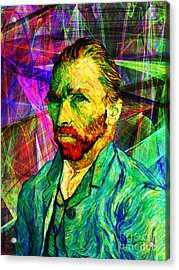 Vincent Revisited 20140118v1 Acrylic Print by Wingsdomain Art and Photography