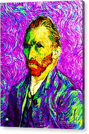 Vincent Revisited 20140118v2 Acrylic Print by Wingsdomain Art and Photography