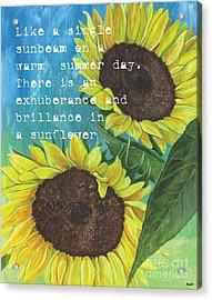 Vince's Sunflowers 1 Acrylic Print by Debbie DeWitt