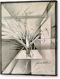 Vine And Branches B 1969 Acrylic Print by Glenn Bautista