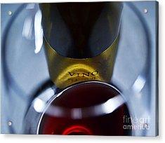 Vino Reflections Acrylic Print by John Debar