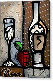 Vino Revisited Acrylic Print by Tom Fedro - Fidostudio