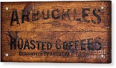 Vintage Arbuckles Roasted Coffee Sign Acrylic Print by John Stephens