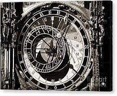 Vintage Astronomical Clock Acrylic Print by John Rizzuto