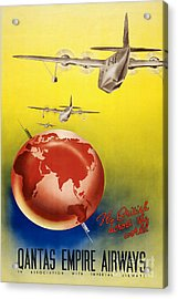 Vintage Australia Travel Poster Acrylic Print by Jon Neidert